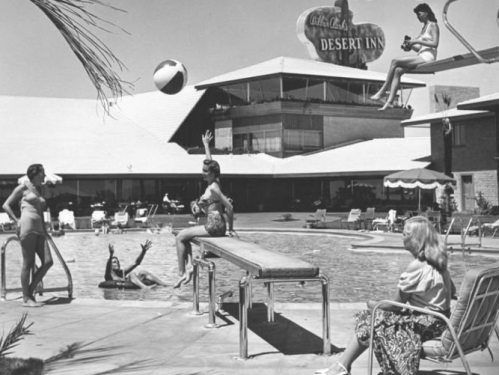 Vintage old photos of Las Vegas