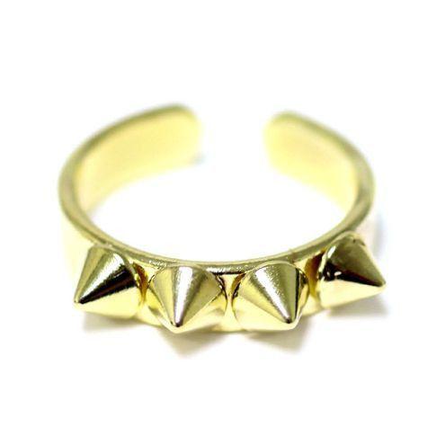 Spike Ring Adjustable Gold Ring