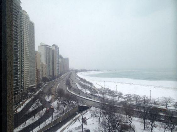 Chicago in the snow. // Chicago sous la neige.  © Château Prieuré-Lichine