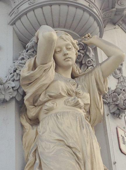 * Caryatid in Vienna.