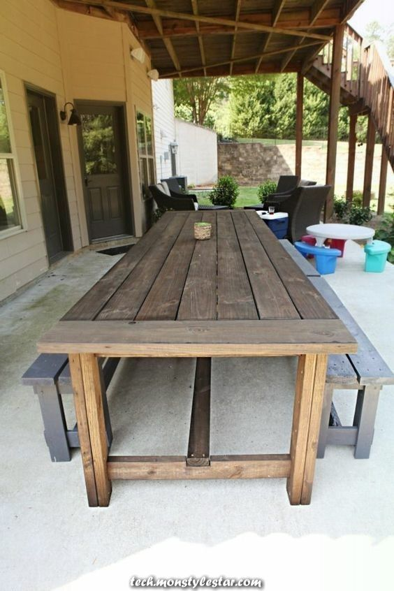 Construct Your Individual Backyard Desk Directions In 2020 Outdoor Patio Table Garden Table Patio Table