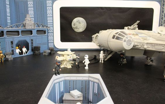 diorama playmobil starwars par dominique bethune, collectionneur de playmobil