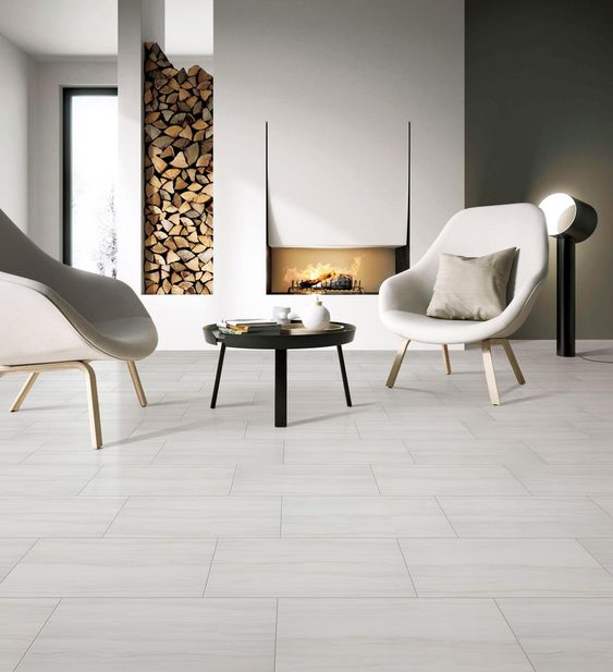 Impress White Matte Porcelain Tile