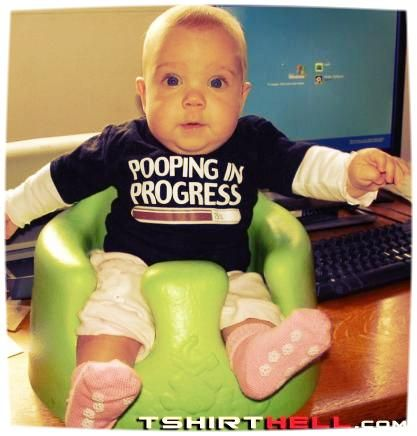 pooping in progress - #funny #baby #t-shirt