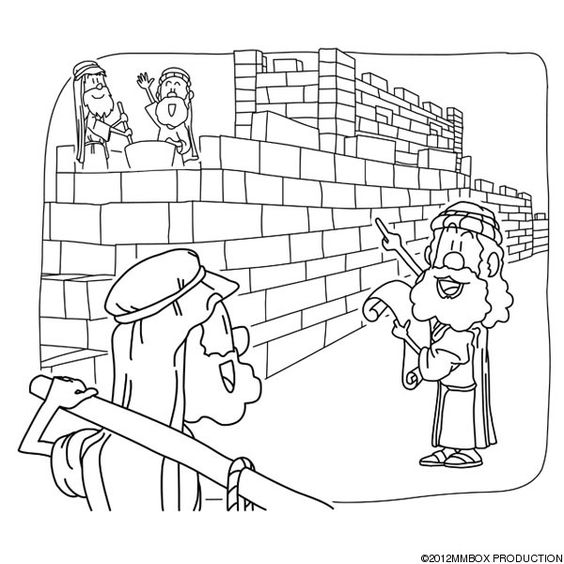 nehemiah coloring page - image result for crafts nehemiah rebuilding wall