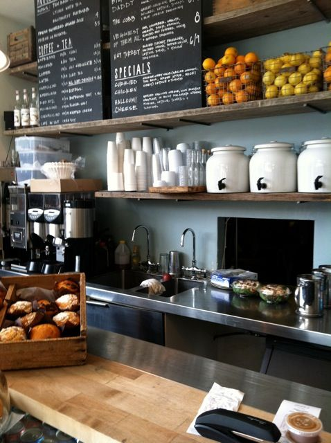 Tinys Giant Sandwich Shop Great Breakfast And Coffee I Heart NYC Pinterest Open Shelving