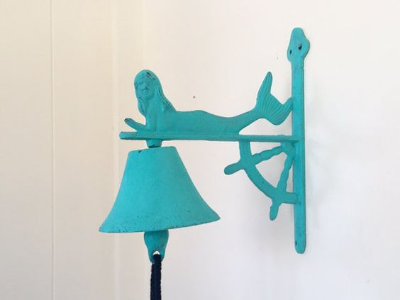 Bell Decor Entrancing Mermaid Wall Decor Bell Turquoise Dinner Bell Door Bell Design Ideas
