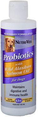 Nutri-Vet Probiotics with Wild Alaskan Salmon Oil for Dogs