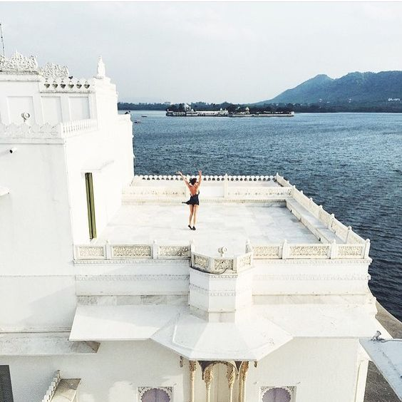"dametraveler: ""frontrowmode: "" Taj Lake Palace, India "" https://instagram.com/dametraveler "":"