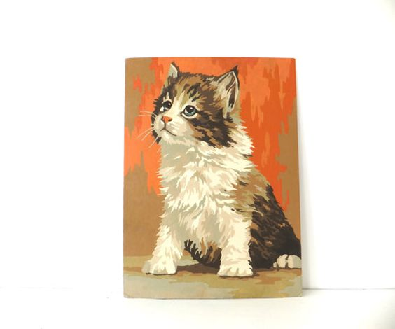 Painting by Numbers,  Kitten Picture by PeonyandThistle, £22.00