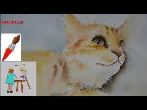 Peindre A L Aquarelle Un Chat Youtube Peindre A L Aquarelle