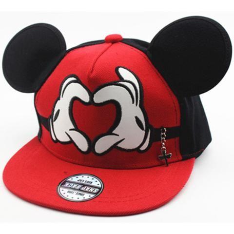 Kids Boys Girls Baseball Cap Hip Hop Snapback Mickey Mouse Sports Hat Adjustable