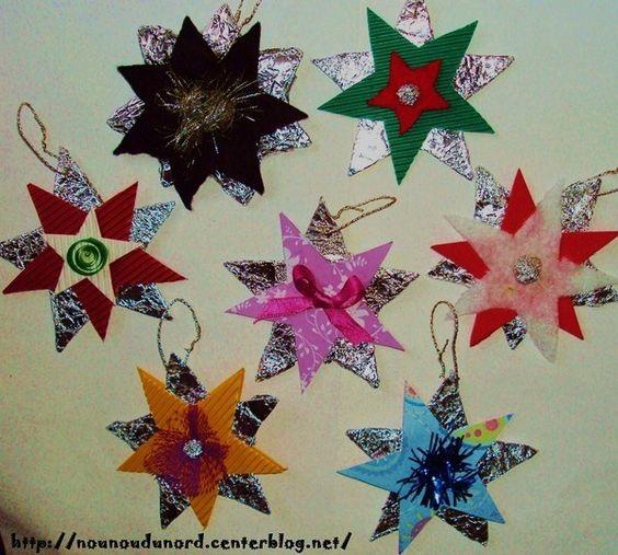... idees bricolages bricolages noel bricolage étoiles bricolage noel