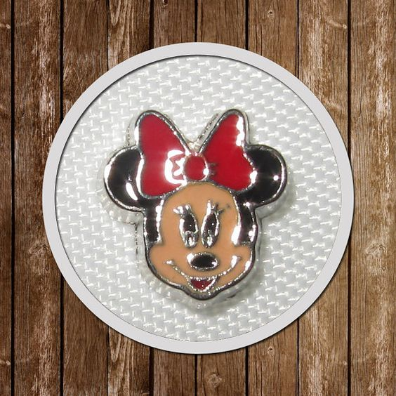 1 Minnie Mouse Floating Charm memory locket  by GCFindings on Etsy