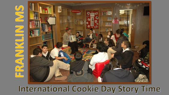Franklin MS celebrated International Cookie Day with a Story Time