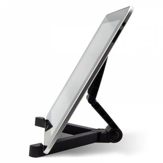El soporte para tablet sirve para trabajar sobre una mesa o cualquier superficie plana sin sacrificar tu postura. Compatible con cualquier tablet de hasta 10 pulgadas. Es plegable y de muy facil traslado.  $120,00