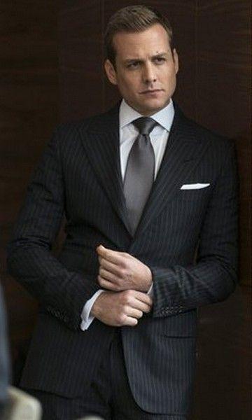 Dark Grey Pinestripe Business Suit