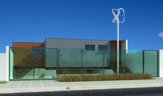 Fachada frente - gerador eolico design Philippe Starck para Pramac. #arquitetura #conceito #design #sustentavel #philippestarck