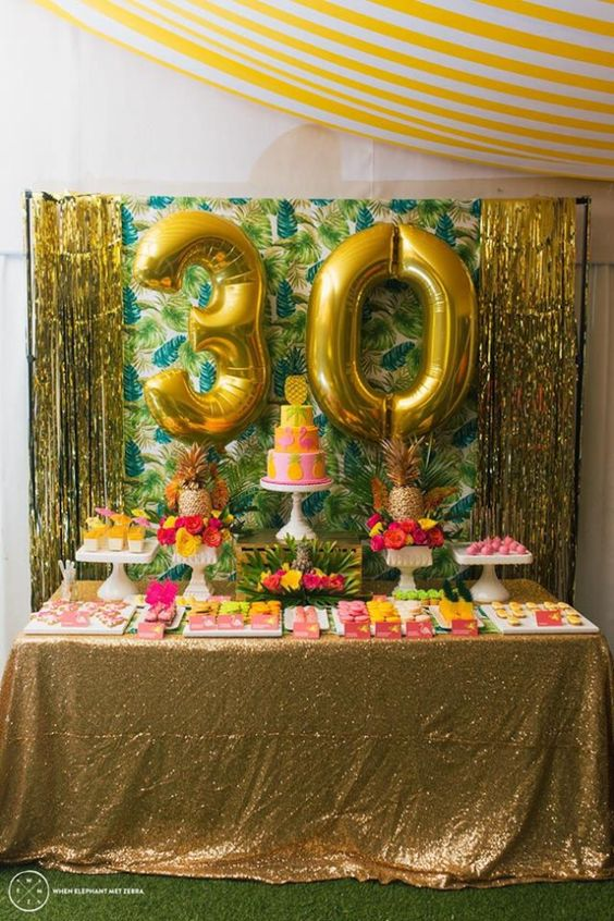 Little Big Company The Blog: Fabulous Aloha Themed 30th Birthday Party by Perfectly Sweet