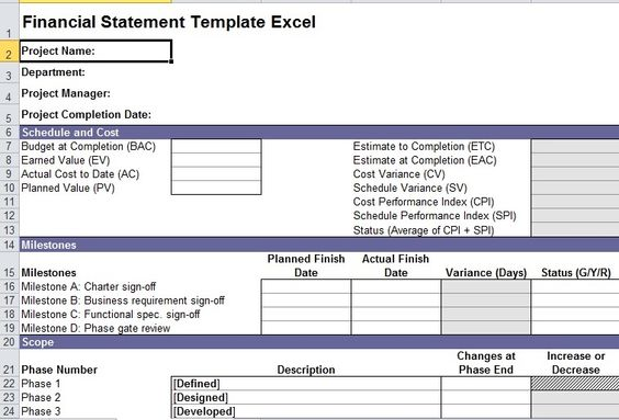Financial Statement Template Excel Excel Templates Pinterest - financial statement template