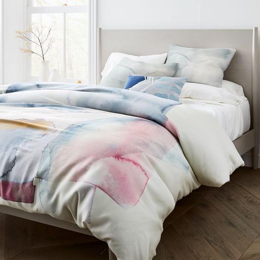 Tencel Pastel Glass Duvet Cover Shams Duvet Covers Modern Duvet Covers Bed Styling