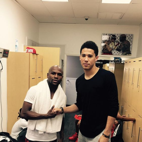 """Devin Booker on Instagram: """"Just stopped by and watched the champ work. Great experience. Thanks for havin me by floyd mayweather:"""