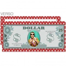 Carte d'invitation Dollar américain, convient pour un anniversaire ou une soirée sur le thème USA #carteanniversaire #etatsunis