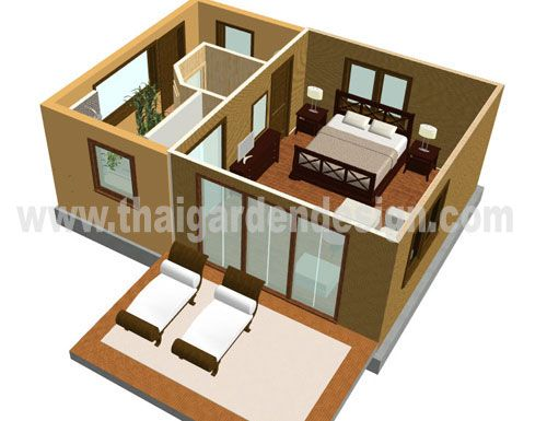 D house plans and small houses on pinterest for Small house design thailand