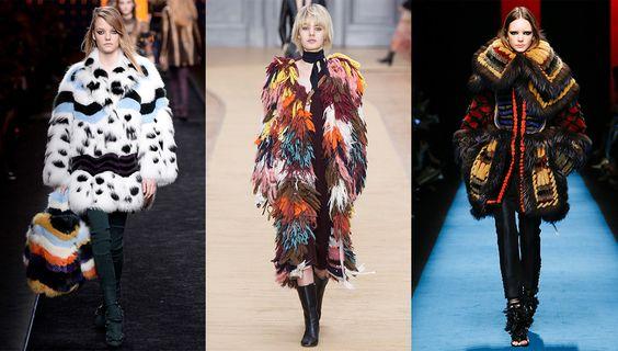 Tendance mode automne-hiver 2016-2017 fourrures colorées: