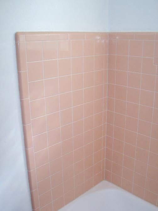 Peach tile house hall bath pinterest bathroom Peach bathroom