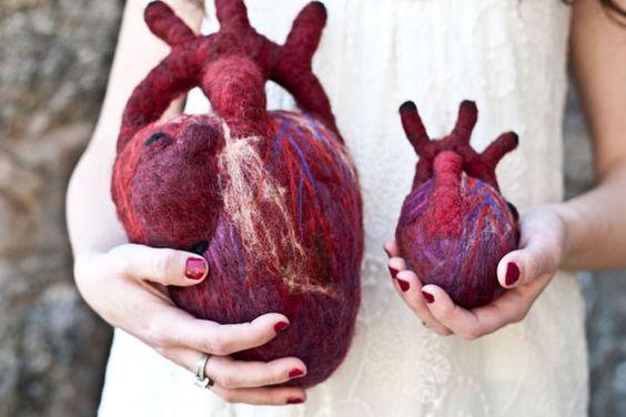 HeartFelt (Anatomical Heart - Human Scale) | Wool, My life ...
