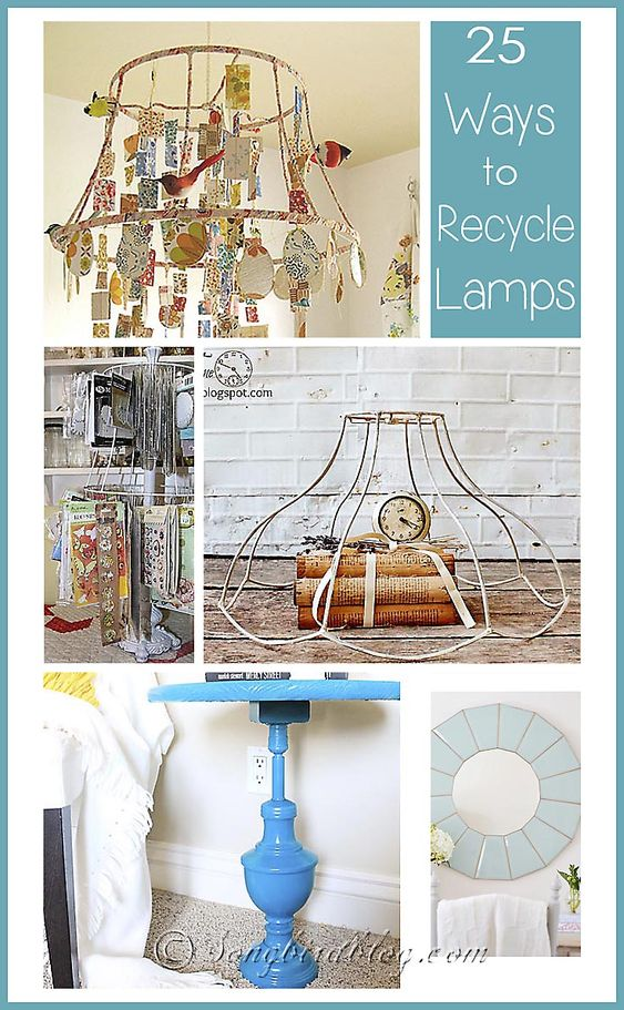 Creative Recycled Lamp And Gazebo On Pinterest