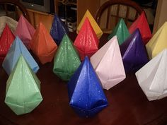 Origami - Balão Junino