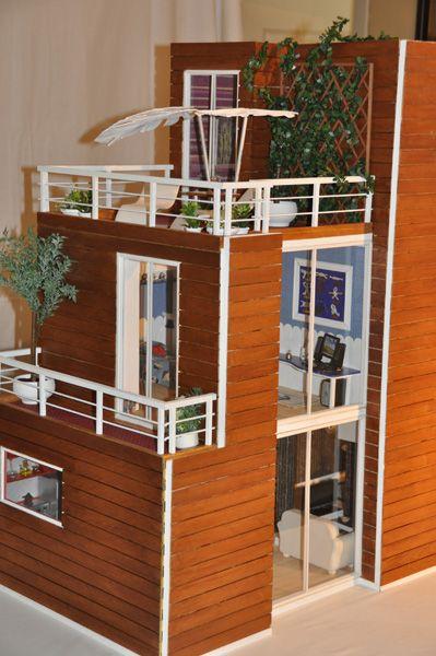 Miniaturas modernas casa mu ecas 3 casas modernas for Mini casas modernas
