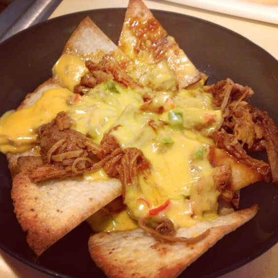 finding faiths future: Pulled Pork Nacho Heaven...recipes for both tortilla chips and pulled pork in the crockpot.