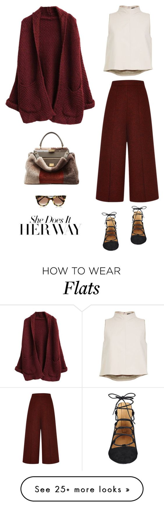 """Burgundy"" by youaresofashion on Polyvore featuring Proenza Schouler, TIBI, Nine West and Fendi"