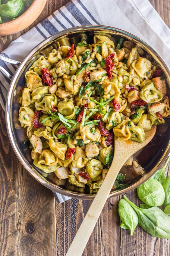 Chicken Tortellini - pesto, sun-dried tomatoes, toasted pine nuts ...