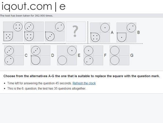 IQOut iq tests Pinterest Free - aptitude test free