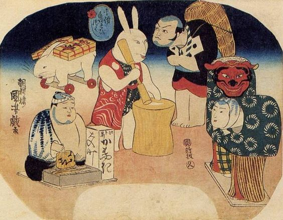 Kuniyoshi's caricatures - Toys with Actor's Expressions, 1842