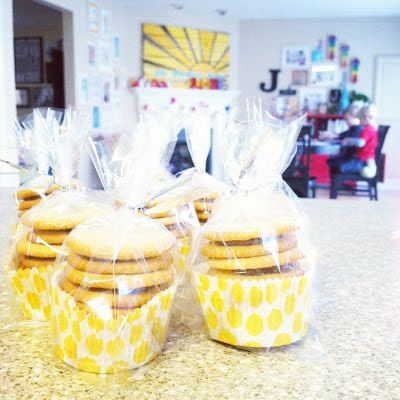 Easy way to package cookies for a bake sale!