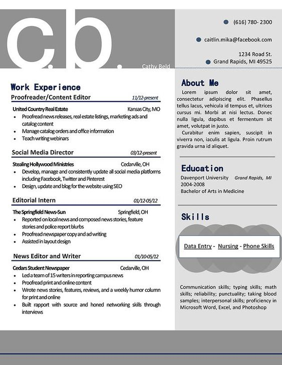 Creative Technologist #CV letter Pinterest Resumé et Design - networking skills resume