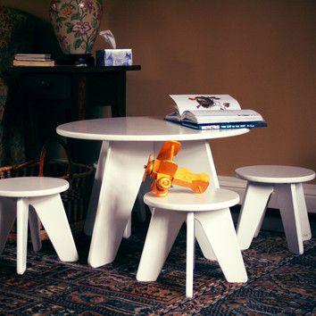 Sodura Aero Kids 3 Piece Table and Stool Set