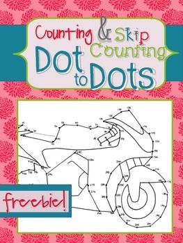 FREE Skip Counting Dot-to-Dot, kids practice skip counting by 5 as ...