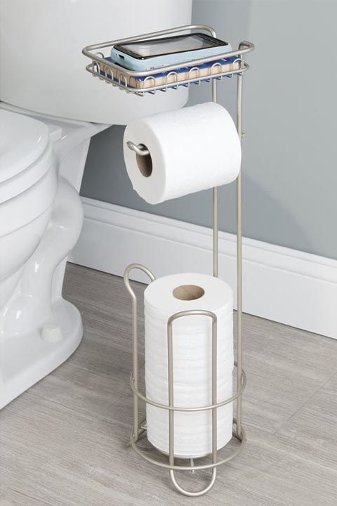 10 Small Bathroom Ideas That Ll Make Your Space Feel Twice As Big Toilet Paper Holder Toilet Paper Toilet Paper Stand