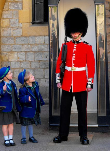 Take a photo with a Windsor Castle guard--by Robin Flynn