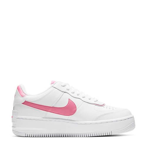 Nike Air Force 1 Shadow sneakers wit/roze in 2020 - Nike ...