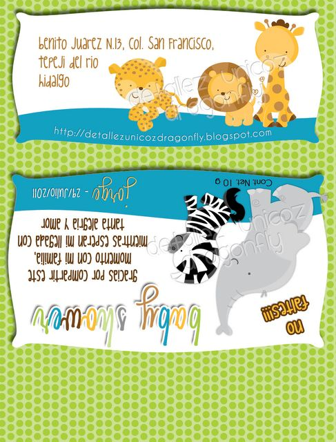 Baby Shower Choco Label - Invitation by  {detallezunicozdragonfly.blogspot.mx}