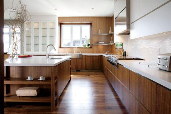 10 d cors de style contemporain cuisine quartz blanc et - Rajeunir une cuisine ...