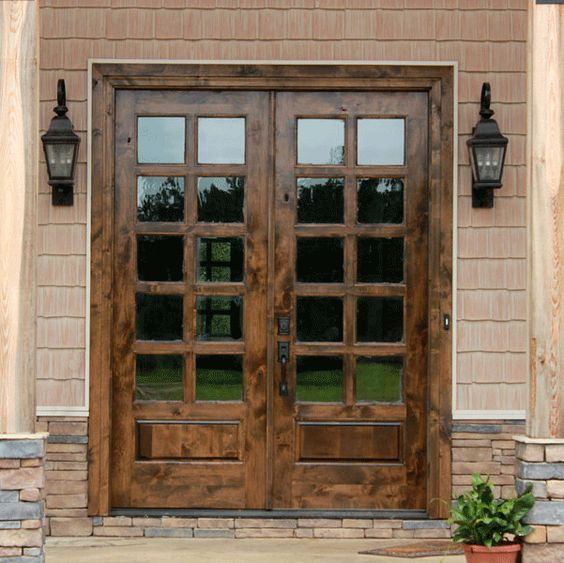 French doors were originally derived from french casement for French front doors for homes
