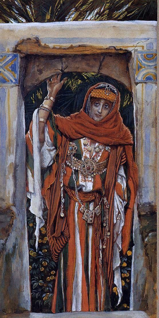 Mary Magdelane Before Her Conversion by James Tissot - Hand Painted Oil Painting
